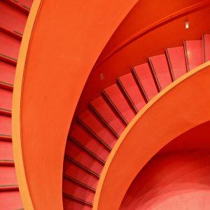 TM1277 architecture modern stairs orange