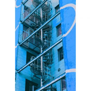 TM1282 architecture staircase blue