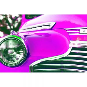TM1320 automotive american cars chevvy pink