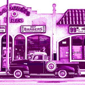 TM1324 automotive american cars pickup violet