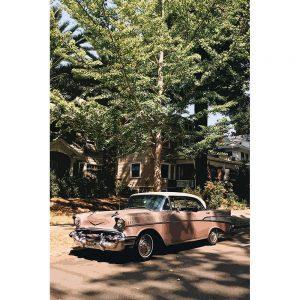 TM1330 automotive american cars classic pink