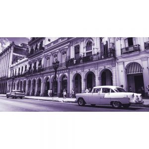 TM1358 automotive cuban cars mauve