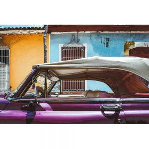 TM1360 automotive cuban cars convertible magenta