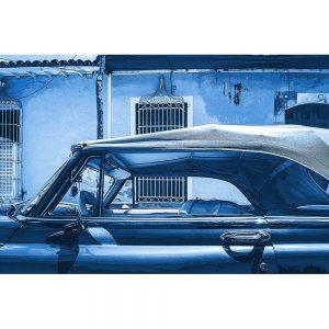TM1363 automotive cuban cars convertible blue