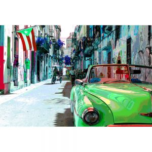 TM1370 automotive cuban cars street green