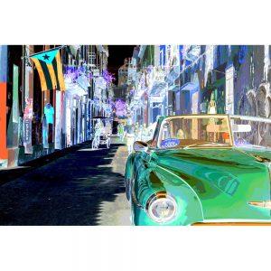 TM1372 automotive cuban cars invert green