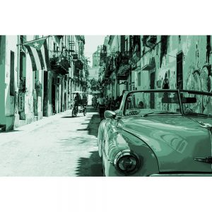 TM1374 automotive cuban cars green