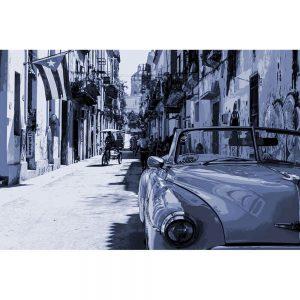 TM1375 automotive cuban cars blue