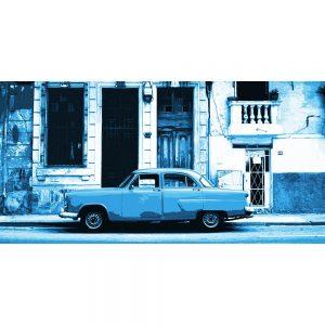 TM1378 automotive cuban cars street blue