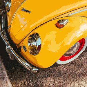 TM1414 automotive classic cars beetle yellow
