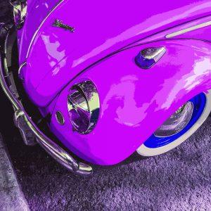 TM1415 automotive classic cars beetle pink