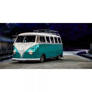 TM1419 automotive classic cars campervan turquoise