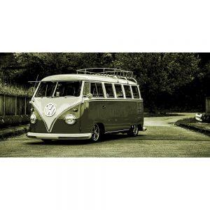 TM1421 automotive classic cars campervan green