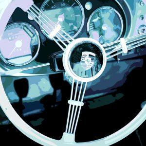 TM1423 automotive classic cars porsche wheel blue