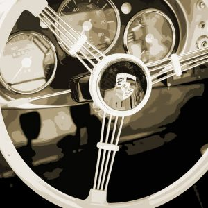 TM1425 automotive classic cars porsche wheel sepia