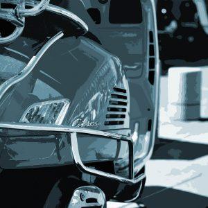 TM1457 automotive scooters blue