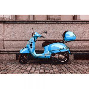 TM1464 automotive scooters vespa blue