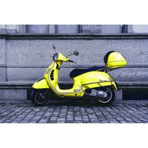 TM1465 automotive scooters vespa yellow