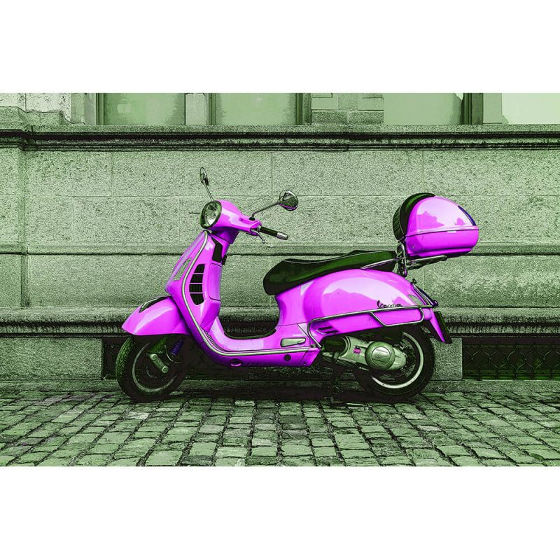 TM1466 automotive scooters vespa pink