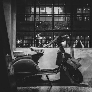 TM1469 automotive scooters classic mono