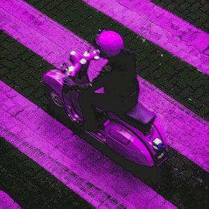TM1478 automotive scooters pink stripes