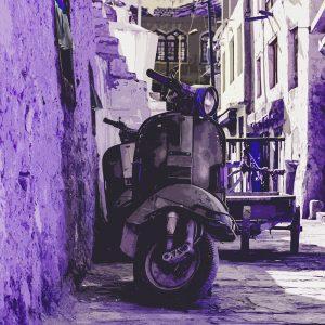 TM1484 automotive scooters old street purple