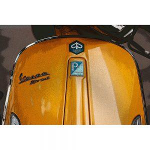 TM1488 automotive scooters vespa orange