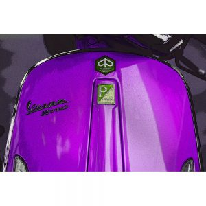 TM1489 automotive scooters vespa purple
