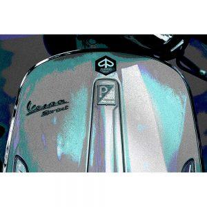 TM1491 automotive scooters vespa teal