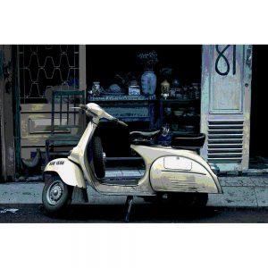 TM1493 automotive scooters retro street white