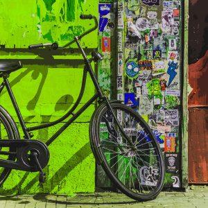 TM1561 bicycles vintage street green