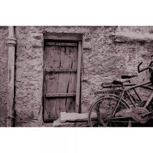 TM1575 bicycles wooden door sepia