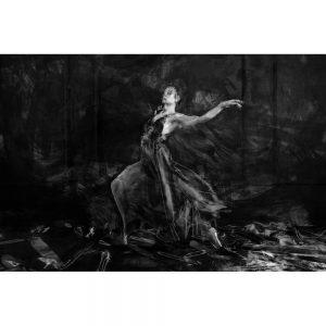 TM1702 ballet dancer painterly mono
