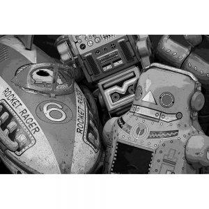 TM1753 retro metal toy collection mono