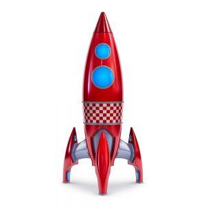 TM1759 retro red rocket