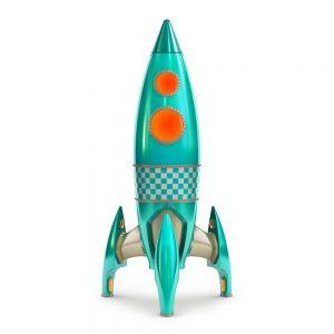 TM1760 retro green rocket