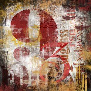 TM2013 type numbers grunge art