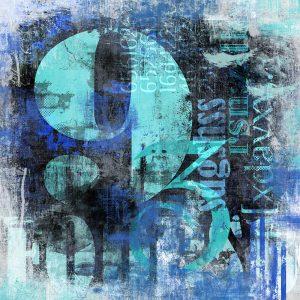 TM2014 type numbers grunge art invert