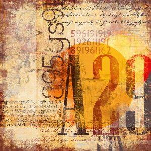 TM2015 type numbers grunge art