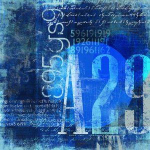 TM2016 type numbers grunge art invert