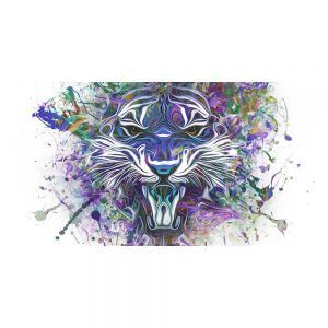 TM2022 tiger graphic grunge art