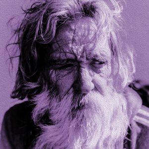 TM2103 old man beard purple