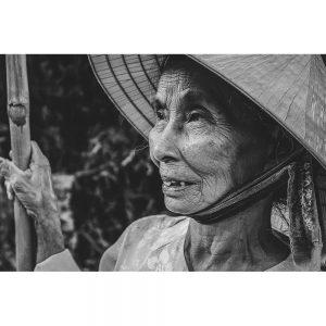 TM2106 old lady hat asian mono