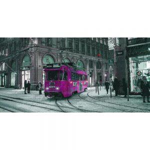 TM2308 tram in snow storm pink