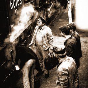 TM2310 archive train and crew sepia