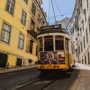 TM2312 tram down street