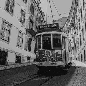 TM2313 tram down street mono