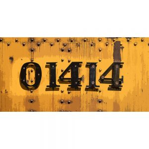 TM2316 numbers on train yellow