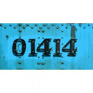TM2317 numbers on train blue