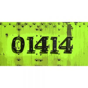 TM2318 numbers on train green